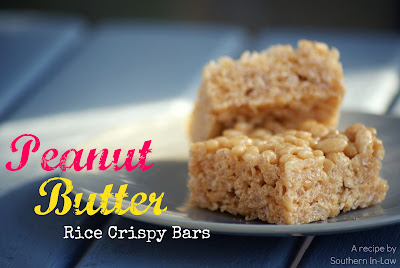 Southern In Law: Recipe: Peanut Butter Rice Crispy Bars
