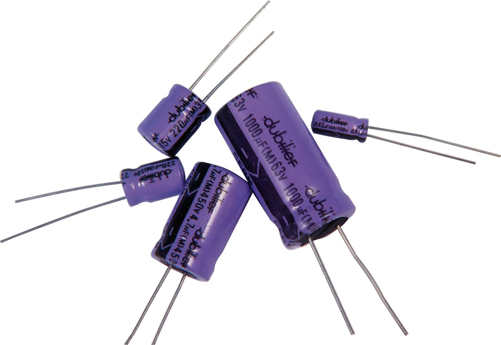 Condensadores electrolíticos radiales Condensador electrolítico SMD: bricotronika.blogspot.com/2012/06/el-condensador.html