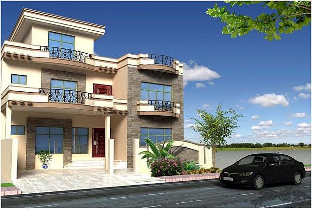 Front Elevation Of 240 Yards House : Front elevation house good decorating ideas