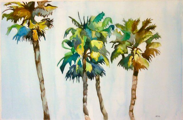 palm tree watercolor - photo #6