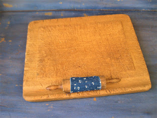 rare toy pastry board and rolling pin $148