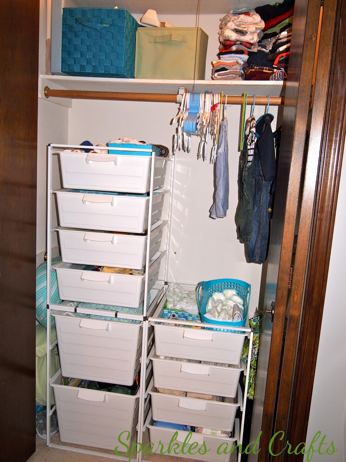 Sparkles and Crafts: Baby Boy Closet Organization