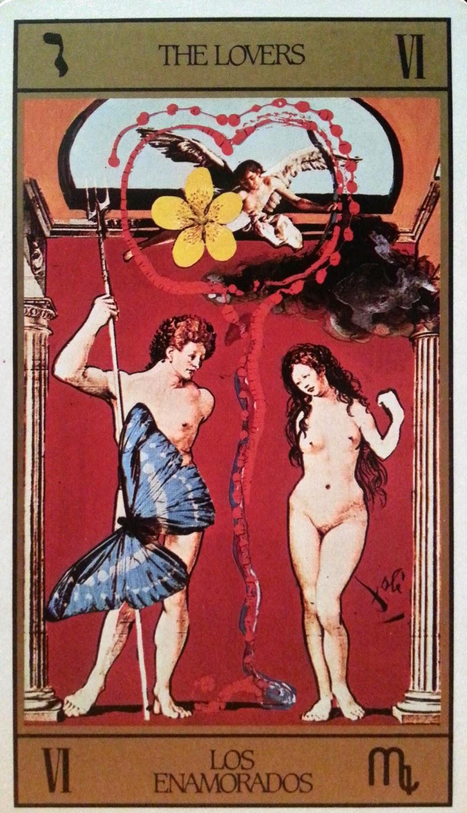 Los Enamorados - Tarot de Dalí
