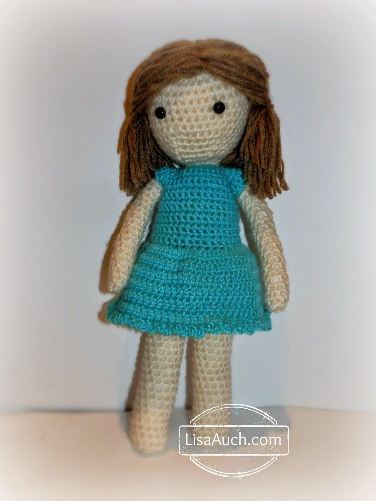 Crochet Patterns Doll Clothes : Blue Little Crochet Dolls Dress Free Pattern Free Crochet Patterns ...