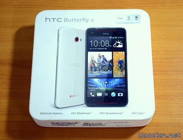 The standard HTC Butterfly S box