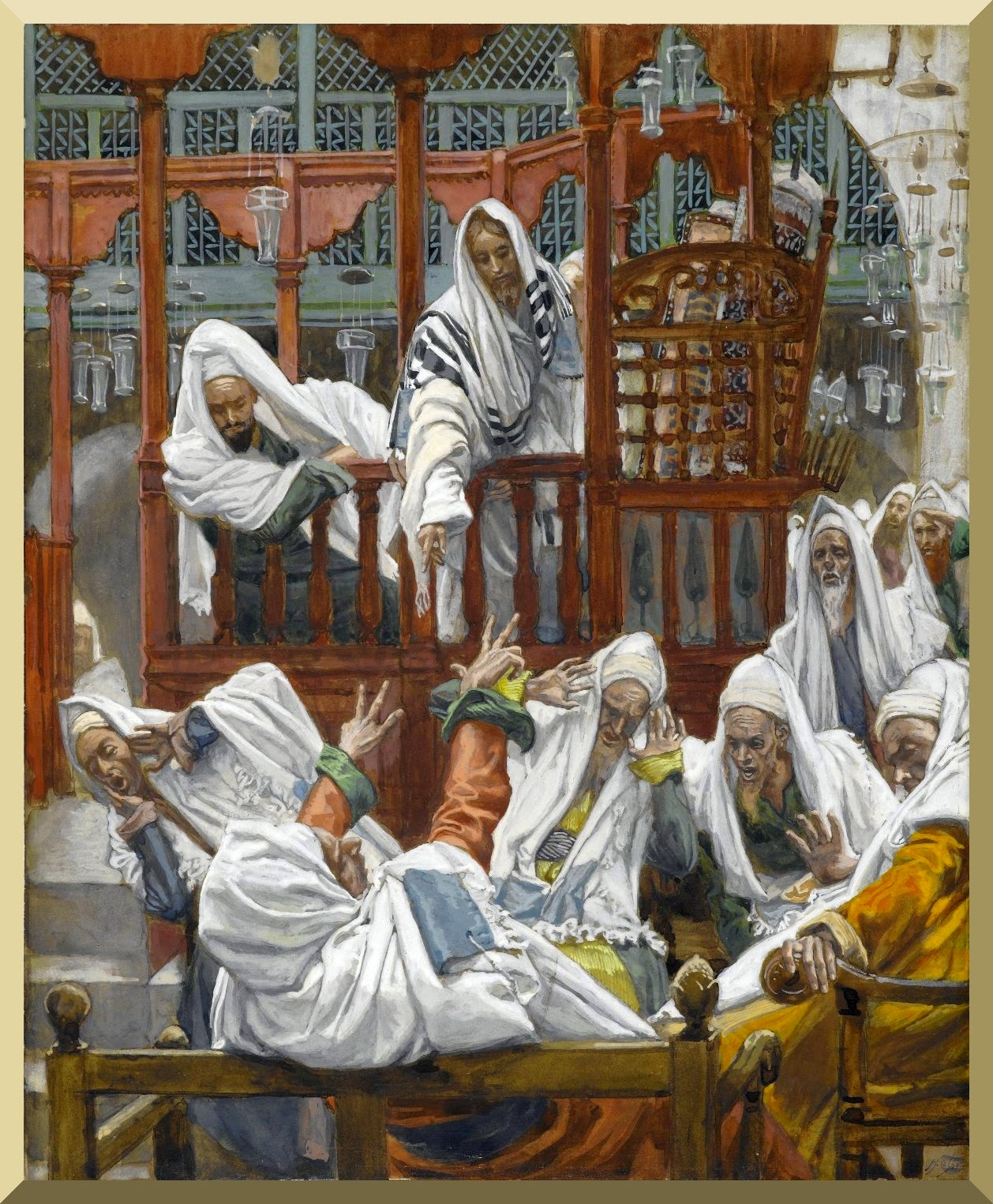 """The Possessed Man in the Synagogue"" by James Tissot"