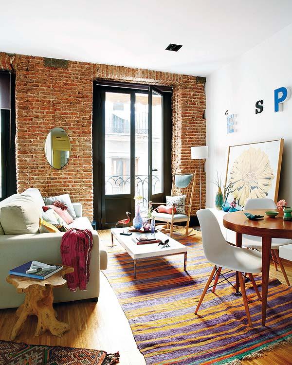 Amenajare plină de personalitate într-un apartament din Madrid