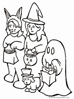 Happy Halloween Costume Kids Coloring Pages