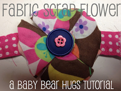fabric scrap flower tutorial