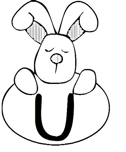 a desenhar letras do alfabeto letra U colorir