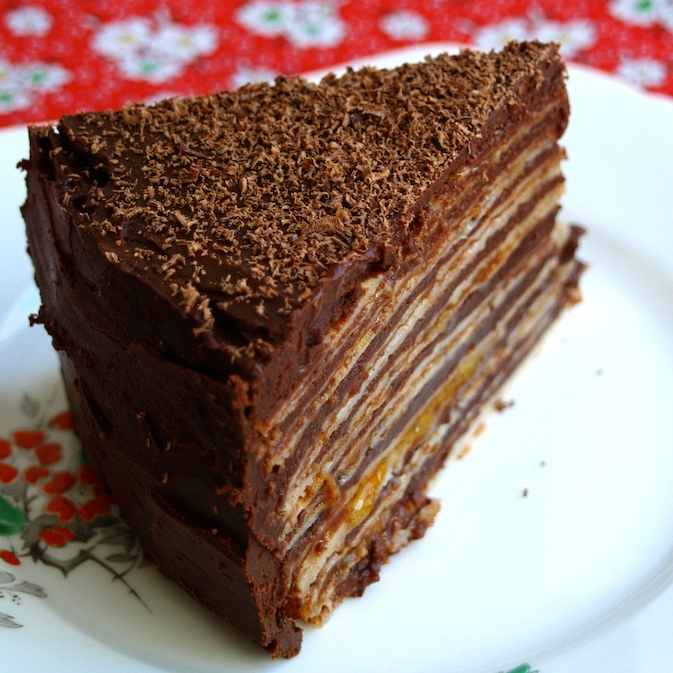 let's bake love: chocolate buckwheat pancake cake