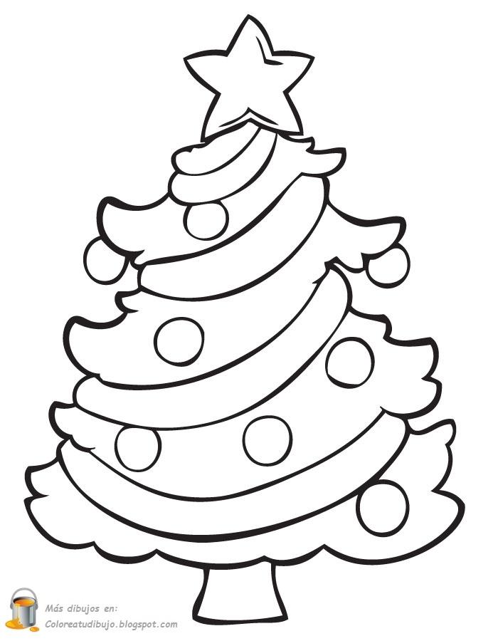 COLOREA TUS DIBUJOS: Árbol navideño para colorear y pintar