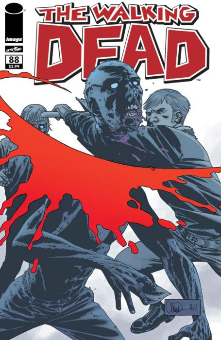 Algunas portadas de the walking dead, el cómic