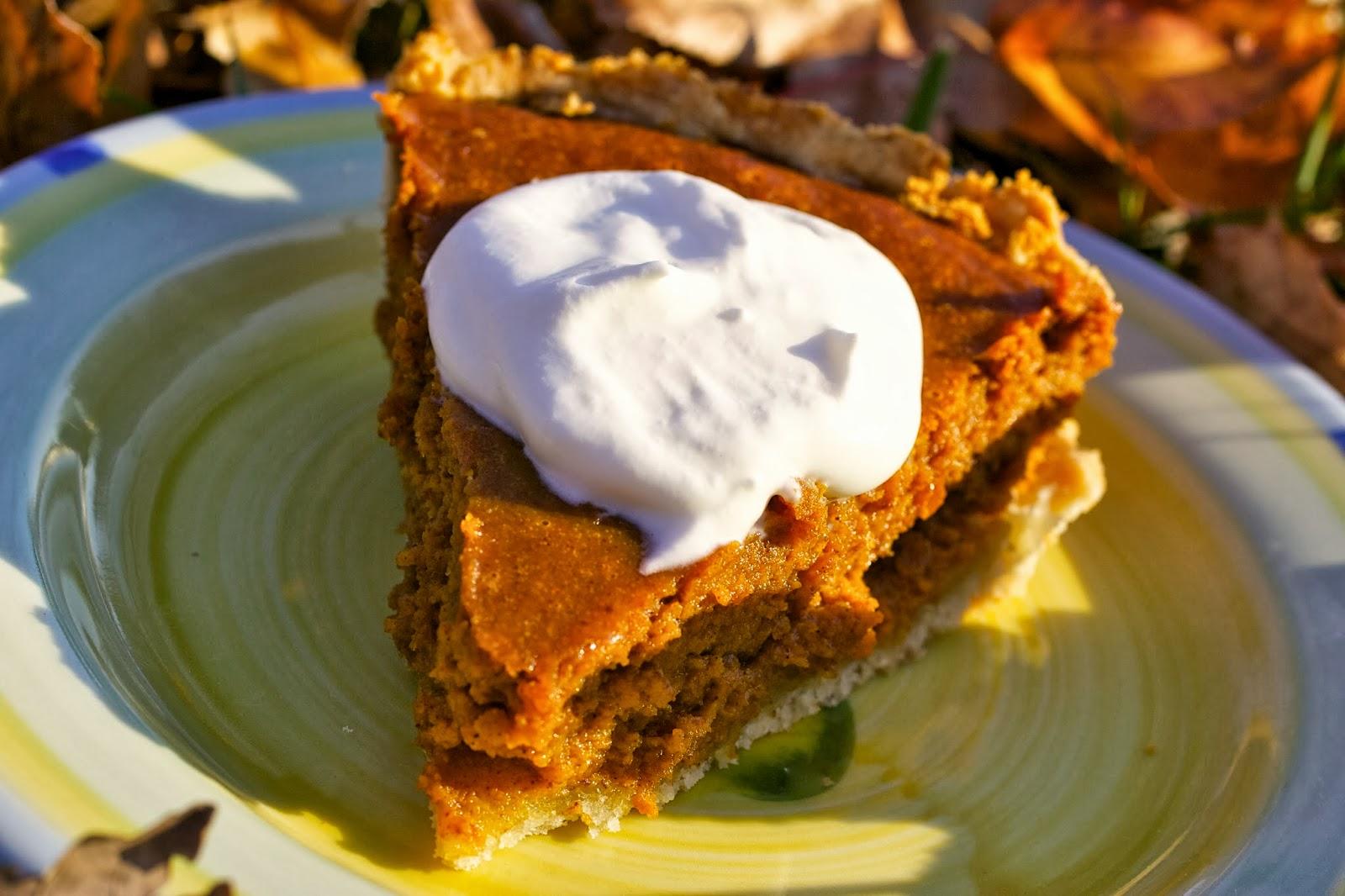 Mmm - pumpkin pie with homemade whipped cream.