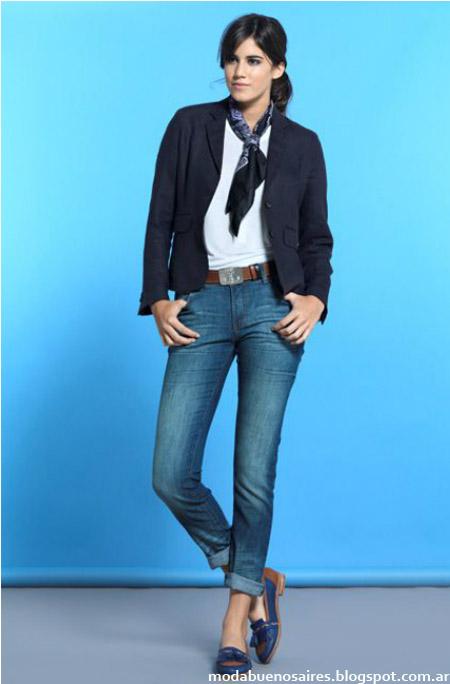 Jeans y saco blazer Cardón colección primavera verano 2014.