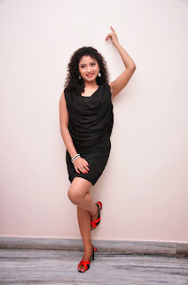 Vishnu Priya Pictures in Black Short Dress at Man of the Match Audio Release Function ~ Celebs Next