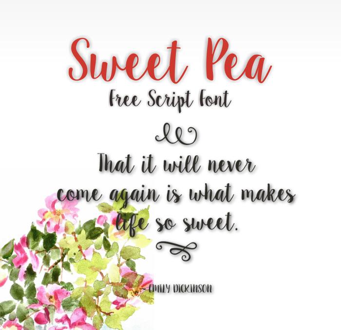 35 Font Script untuk Desain grafis - Sweet Pea Script Font