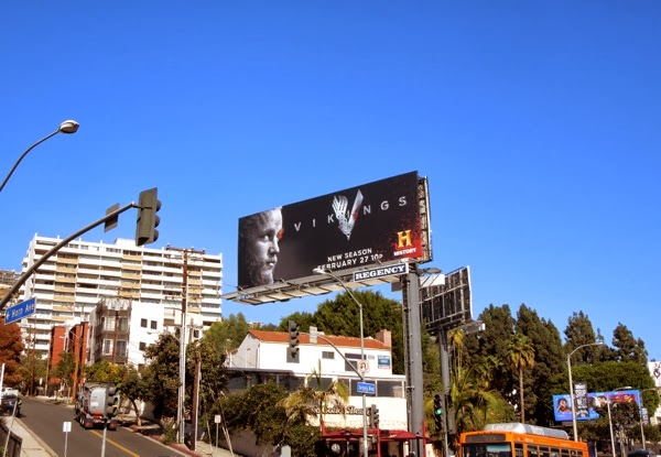 Vikings season 2 billboard Sunset Strip