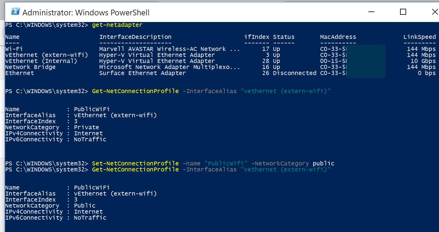 change network adapter name windows 10