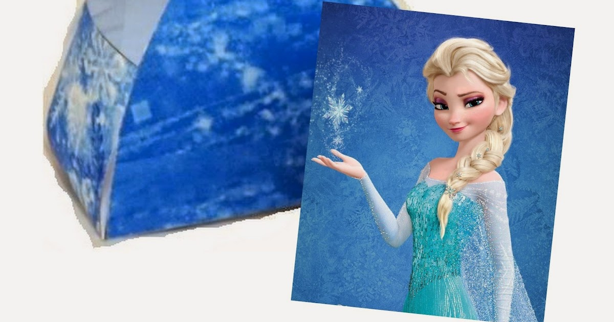 frozen  elsa free printable dress shaped box