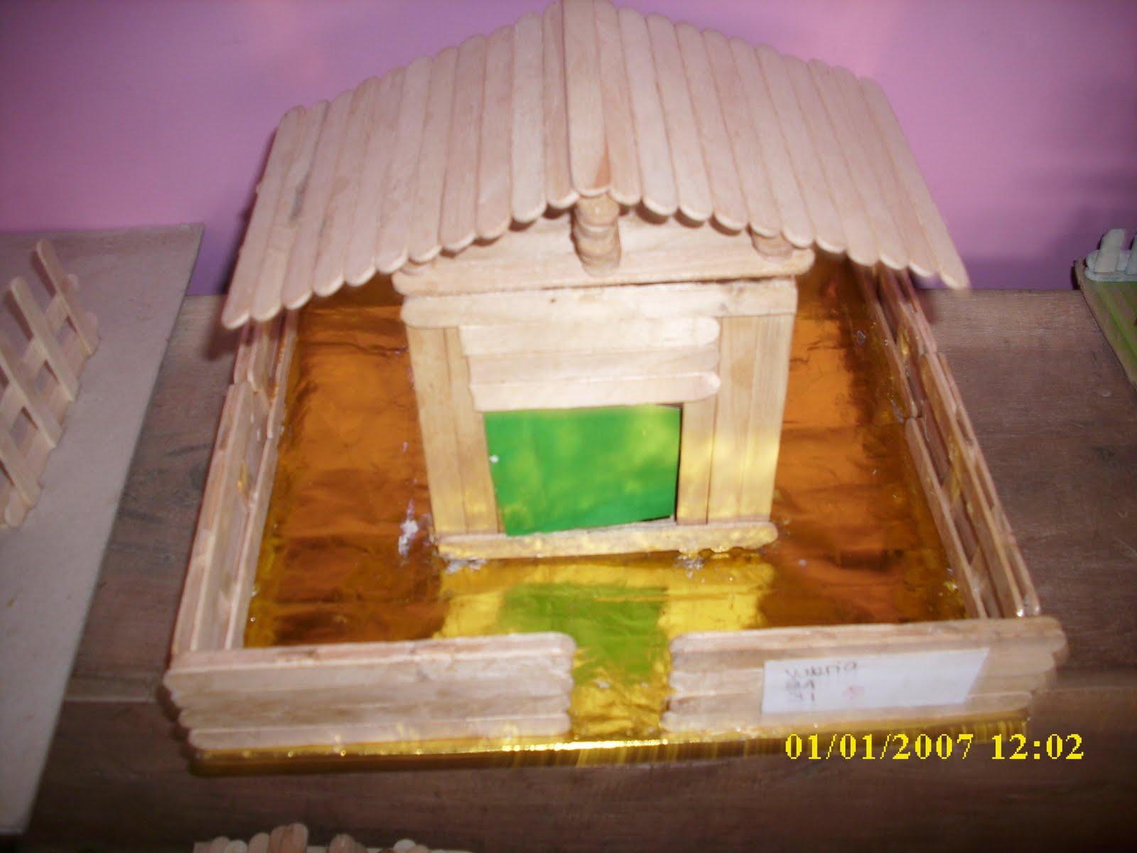 Rumah-Rumahan dari Stick Ice Cream