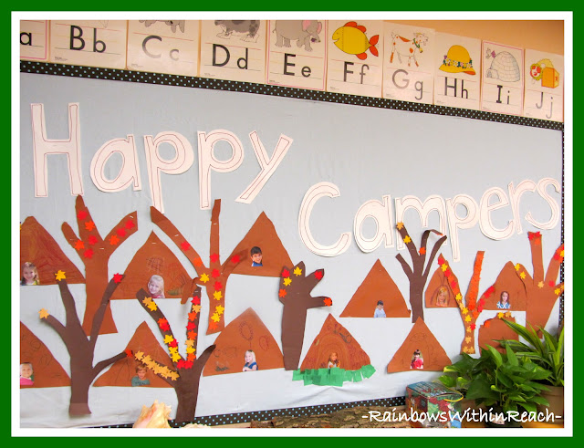 photo of: Happy Camper Bulletin Board via RainbowsWithinReach