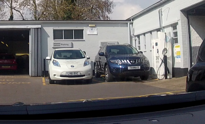 Charging point blocked by SUV