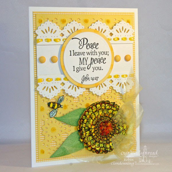Stamps - Our Daily Bread Designs Scripture Collection 13, ODBD Custom Daisy Chain Background, ODBD Custom Zinnia and Leaves Die, ODBD Custom Beautiful Borders Die, Zinna