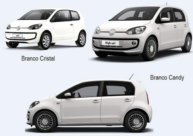 Volkswagen up! Branco Cristal x Branco Candy