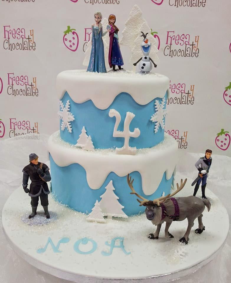 tarta cumpleaños frozen birthday cake blog mama de noa