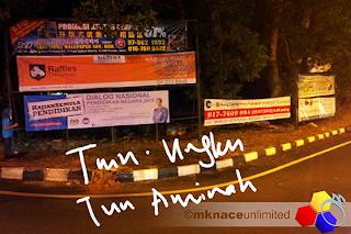 mknace unlimited™ | Pemasangan banner DNPN 2012 Johor