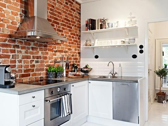 I d e a cocinas con ladrillo visto - Cocina de ladrillo ...