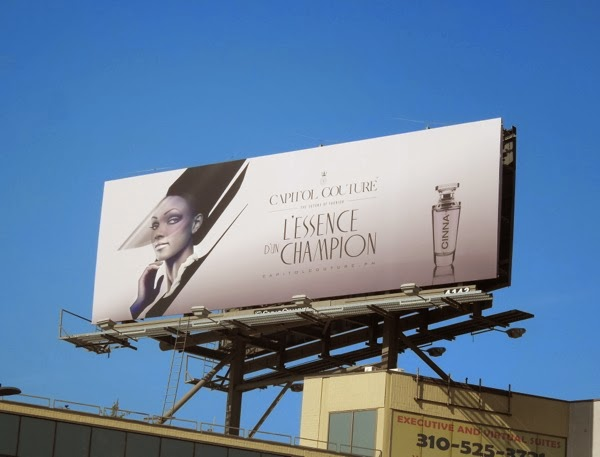 Hunger Games 2 mock fragrance billboard teaser