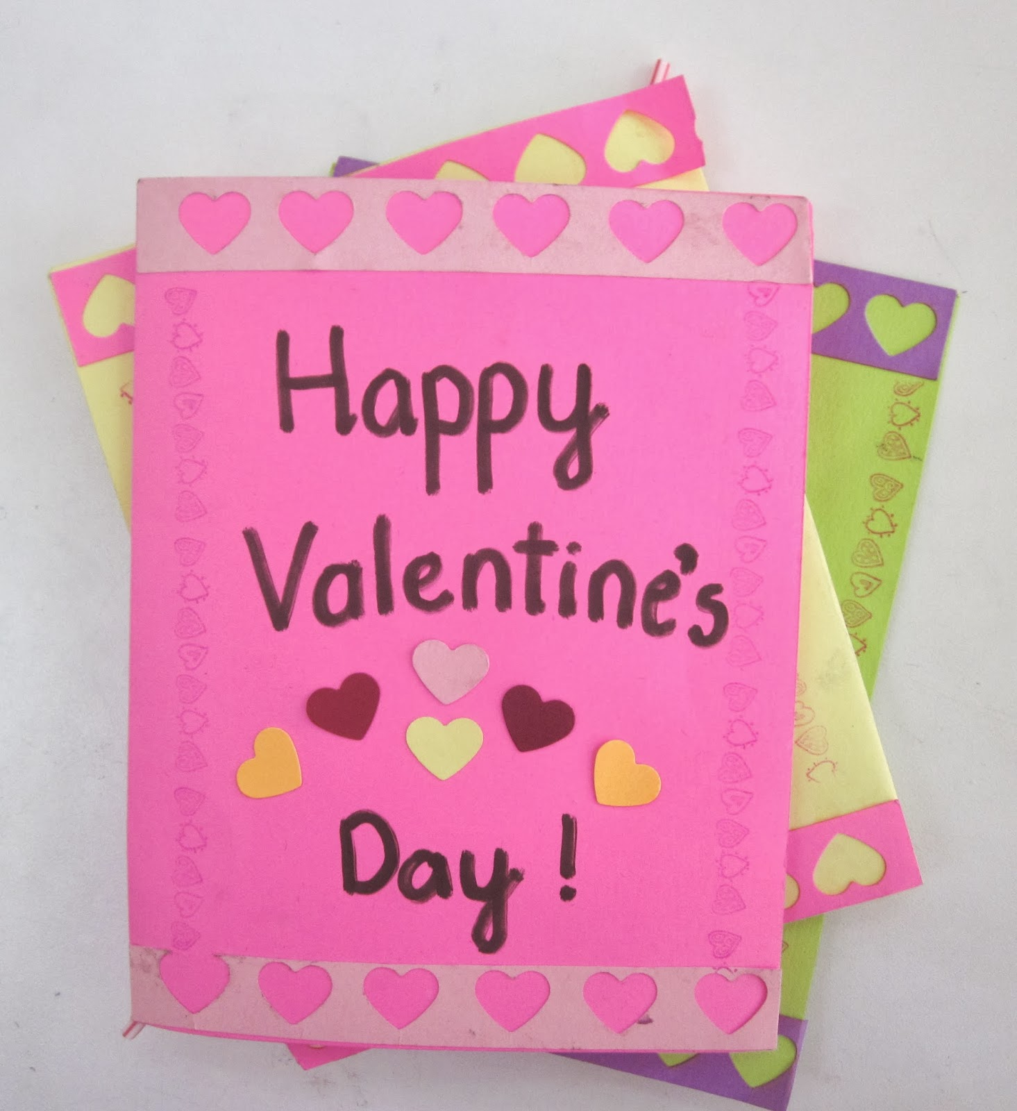 Valentine's Day Cards with lollipop