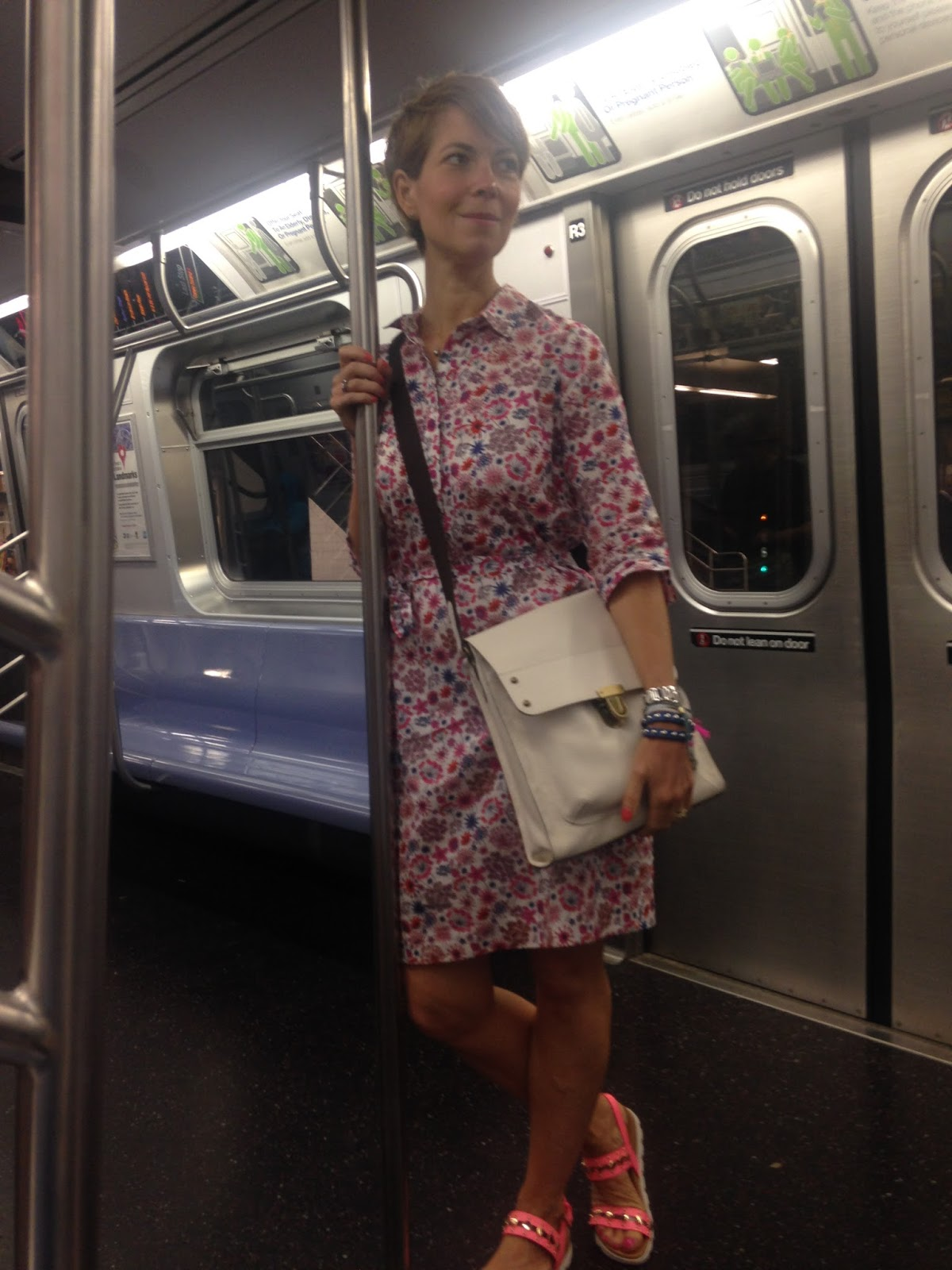 Taking a Liberty shirt dress across the pond…