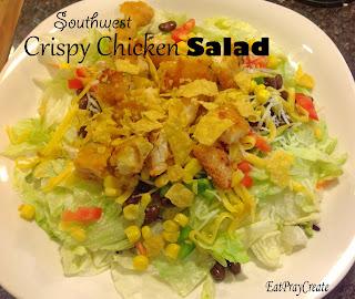 http://www.eatpraycreate.com/2013/11/southwest-crispy-chicken-salad-recipe.html