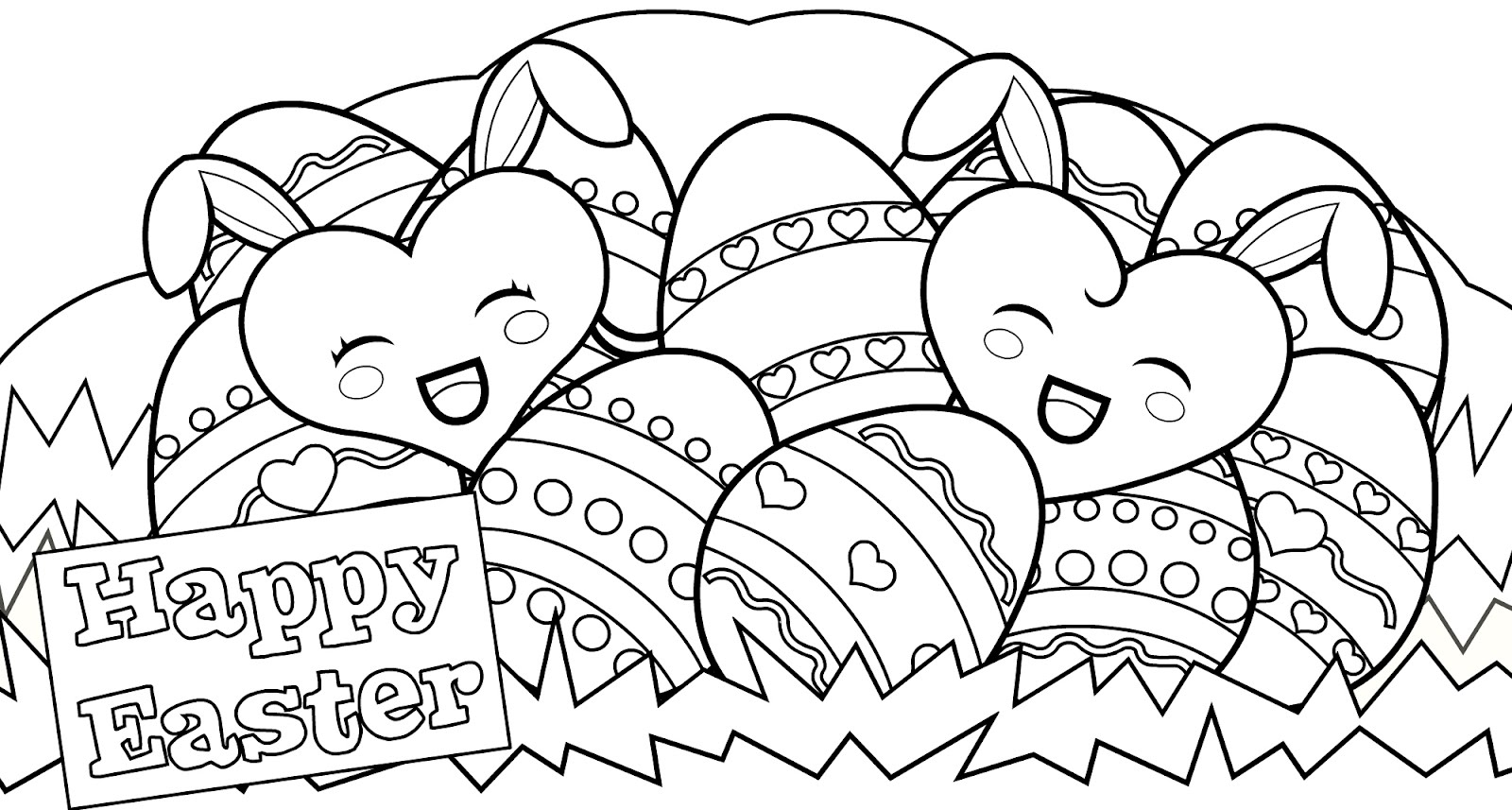 Free easter coloring sheets holiday coloring pages for Free easter coloring page