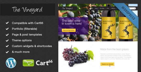 Image for The Vineyard – eCommerce Theme by ThemeForest