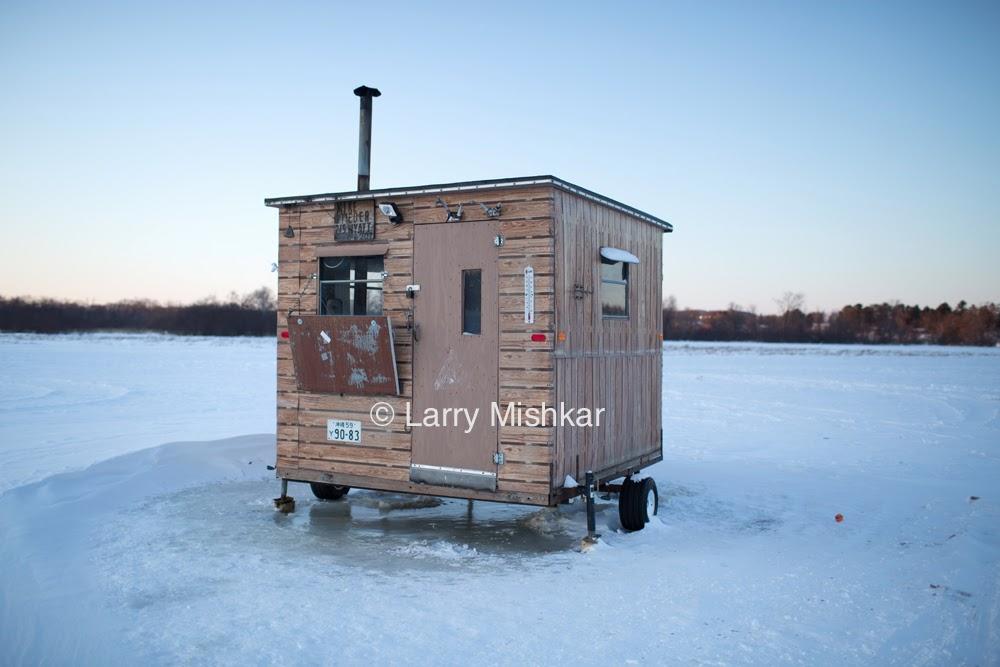 Portfolio ice fishing shacks part 1 larry mishkar for Ice fishing shacks