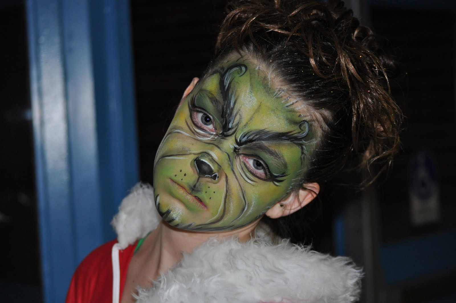 MOORE FAMILY BLOG: Mikayla as the Grinch Jim Carrey Grinch Makeup