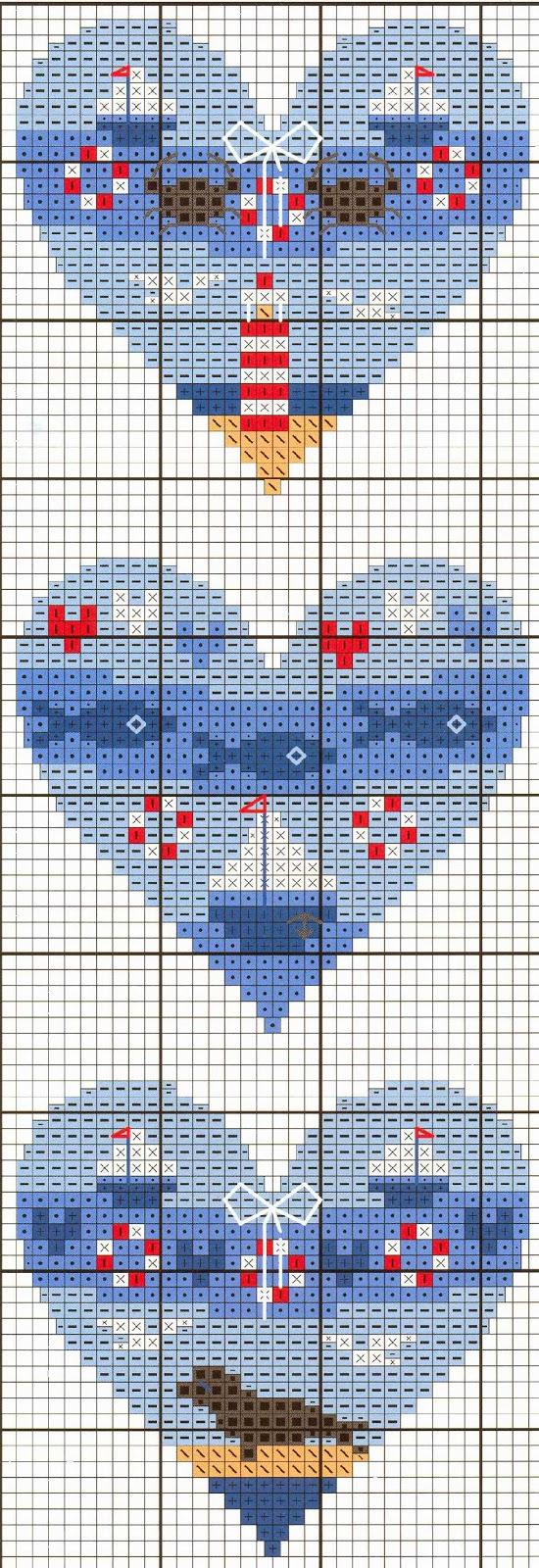 Сердце для вышивки крестиком 549