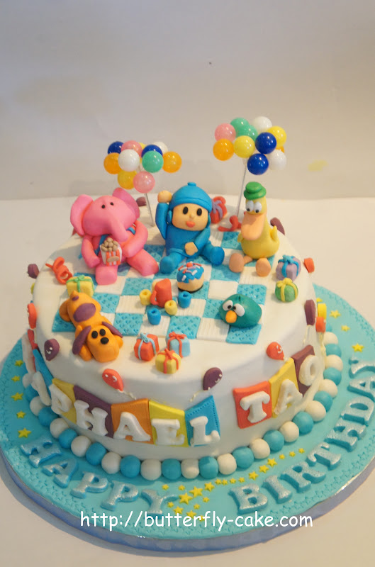 Butterfly Cake Pocoyo Cake For Raphael Tao