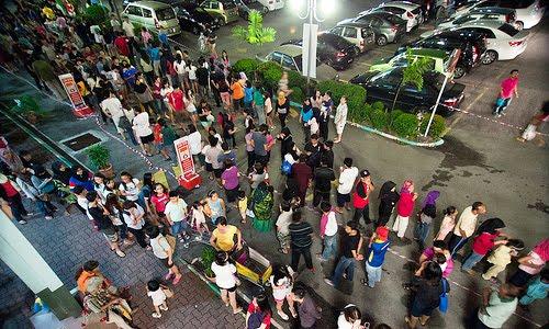 baskin robbins malaysia queue
