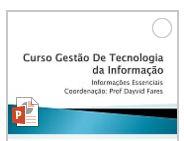INFORMAÇÕES DO CURSO DE TI