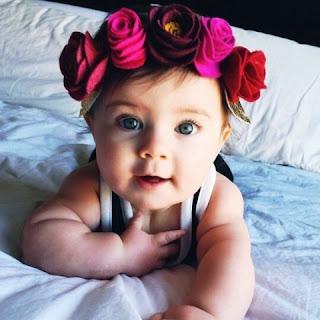 Gambar Bayi Perempuan Bermata Cantik