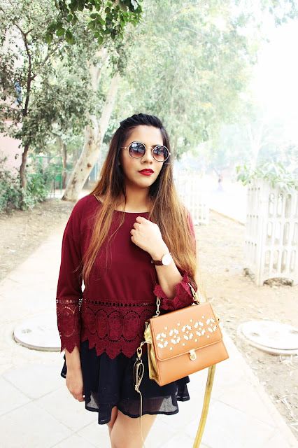 CNDirect, fashion, winter fashion trends 2015, fall fashion trends, wine top, crochet sleeve top, cheap winter tops, black circle skirt, casual chic winter outfit, delhi blogger, delhi fashion blogger, indian fashion blogger, indian blogger, beauty , fashion,beauty and fashion,beauty blog, fashion blog , indian beauty blog,indian fashion blog, beauty and fashion blog, indian beauty and fashion blog, indian bloggers, indian beauty bloggers, indian fashion bloggers,indian bloggers online, top 10 indian bloggers, top indian bloggers,top 10 fashion bloggers, indian bloggers on blogspot,home remedies, how to