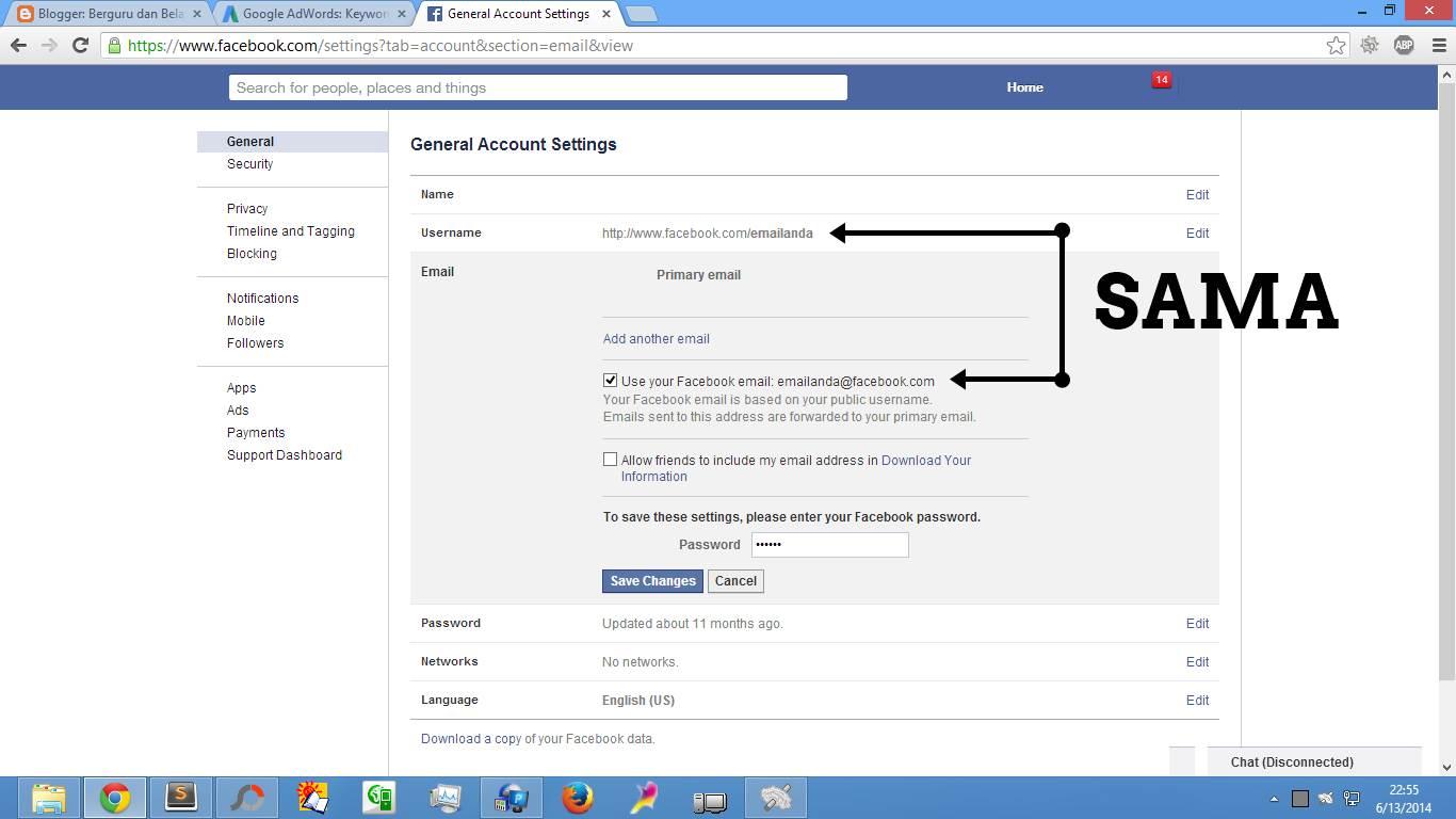 Cara Buat & Daftar Email Facebook (Gbr. 4)