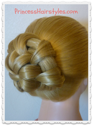 Star Flower Bun Hair Tutorial
