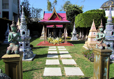 Asian temple at the Hollywood Cemetery
