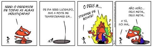 Tirinhas da Luna #31: 'Deus Metal' | Ordem da Fênix Brasileira